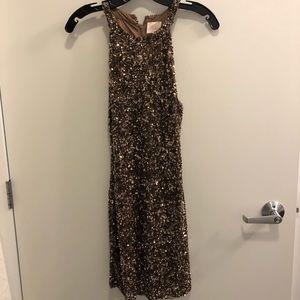 Parker gold sequined dress size xs